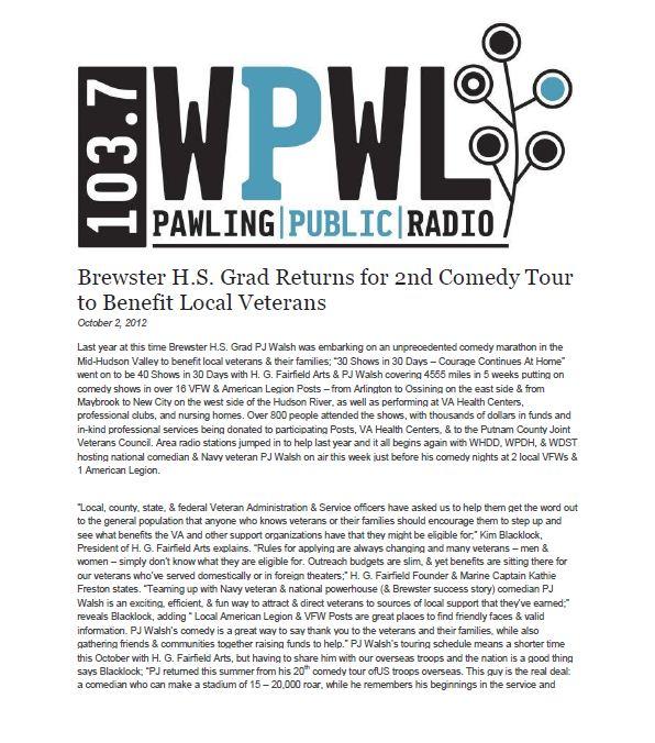 WPWL-2nd Comedy Tour