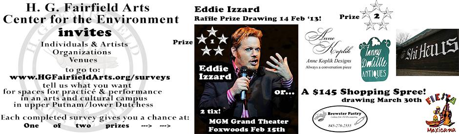 Eddie Izzard raffle ad webslider