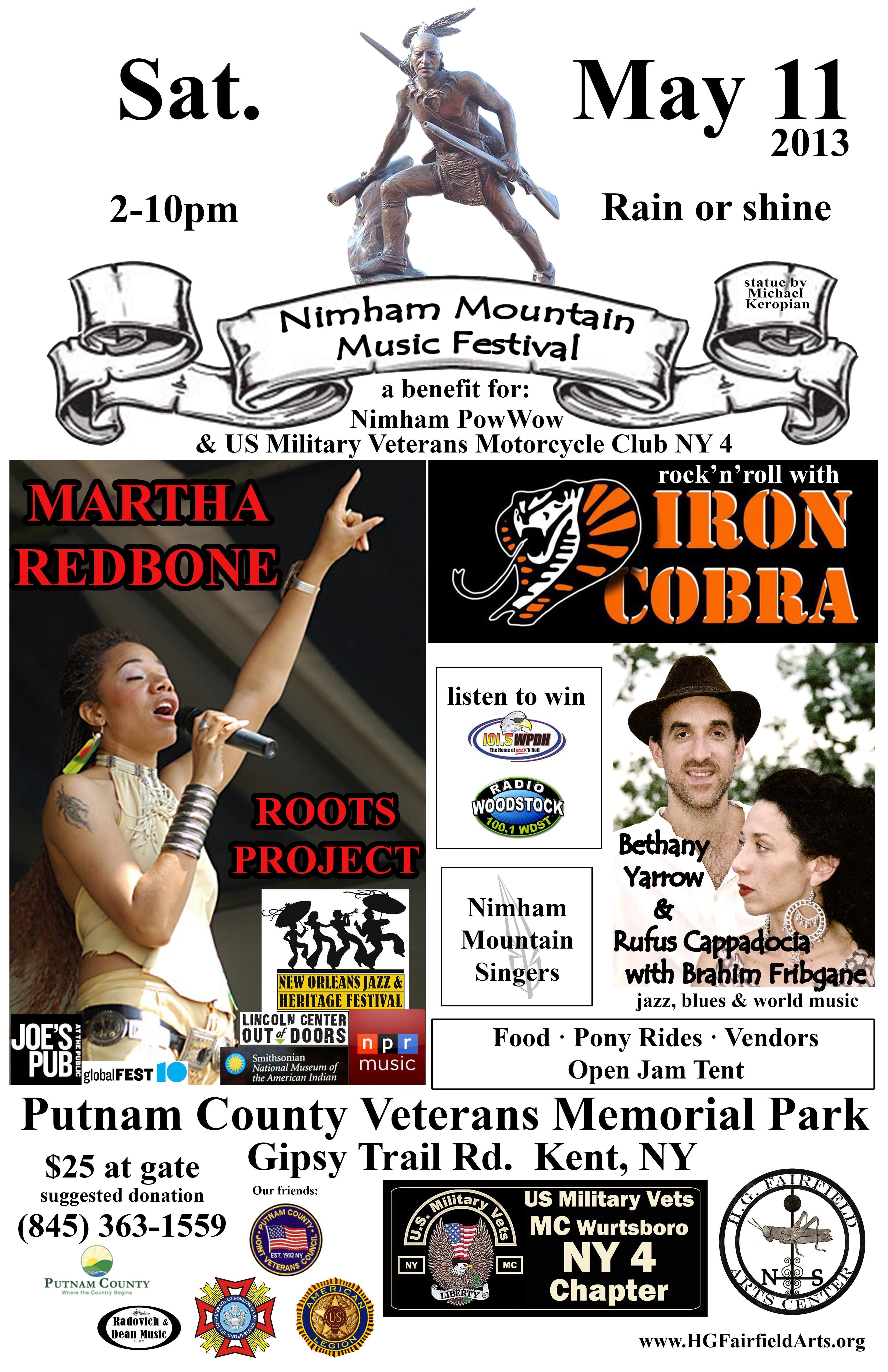 HGF Nimham Mountain Music Festival poster w Nimham update flat