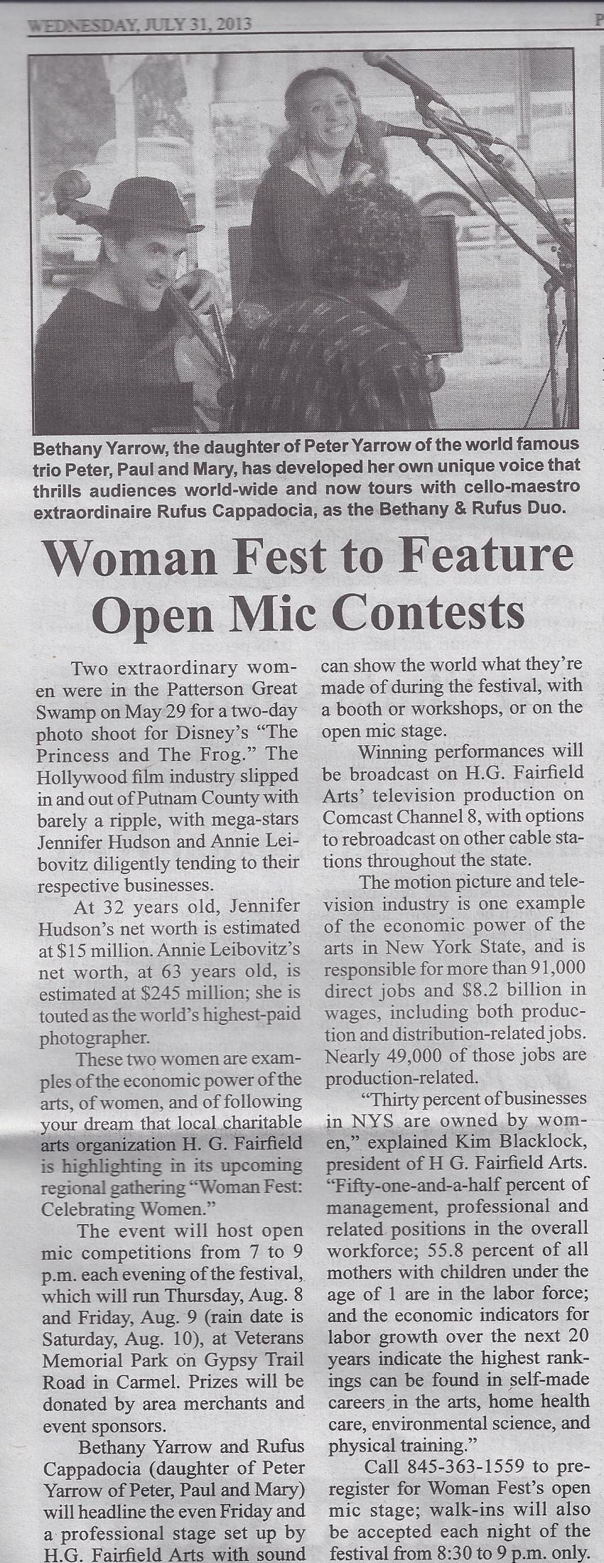 Scan - Put Cty Times Woman Fest