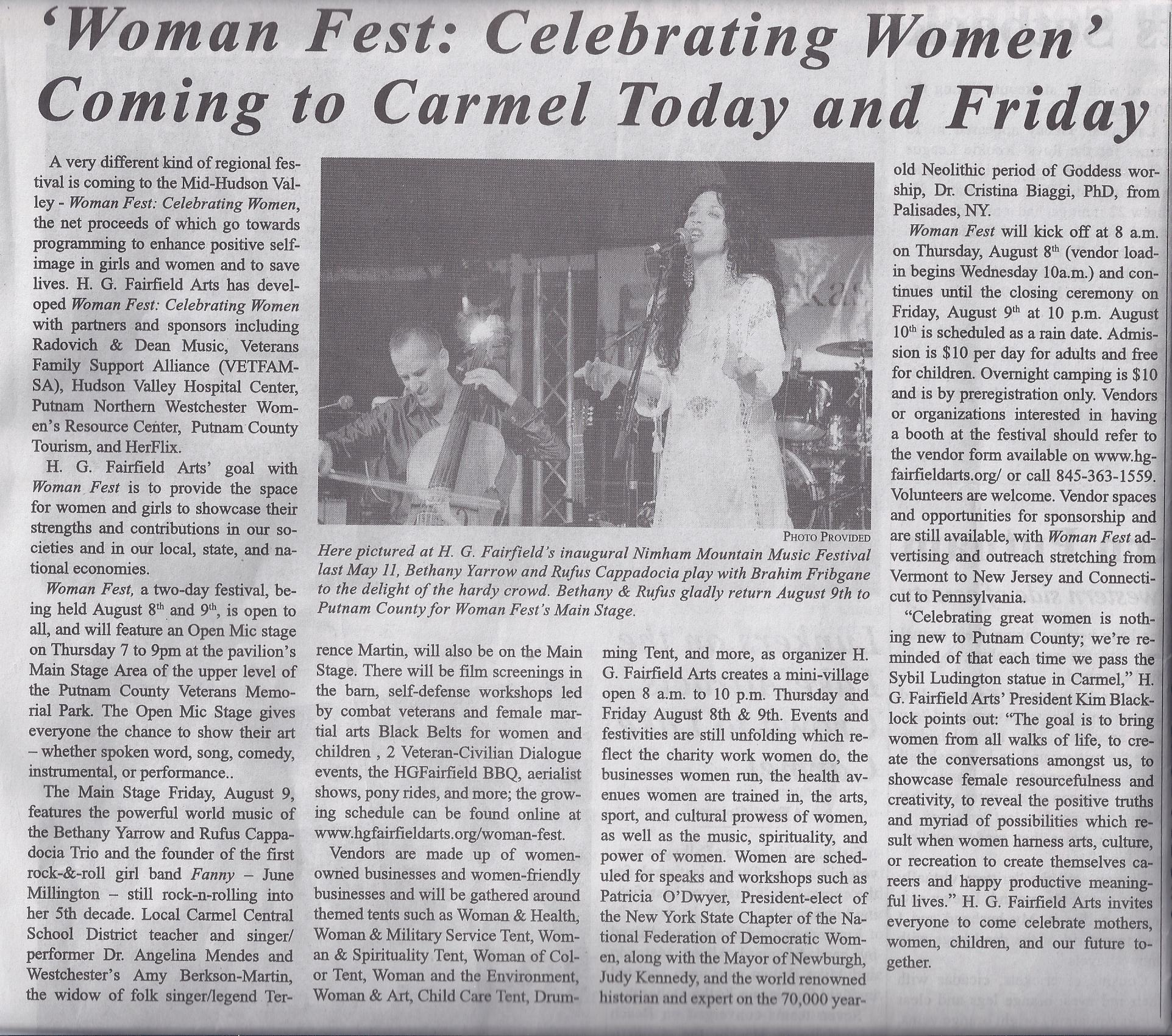 Scan - Woman Fest - Put Cty Courier  Aug 8