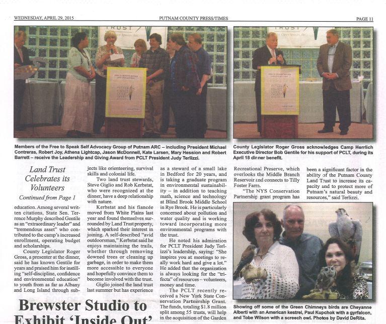PUT-TIMES-Land Trust Celebrates its Volunteers pt2-04292015