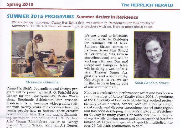 summer 2012 programs summer artists in residence