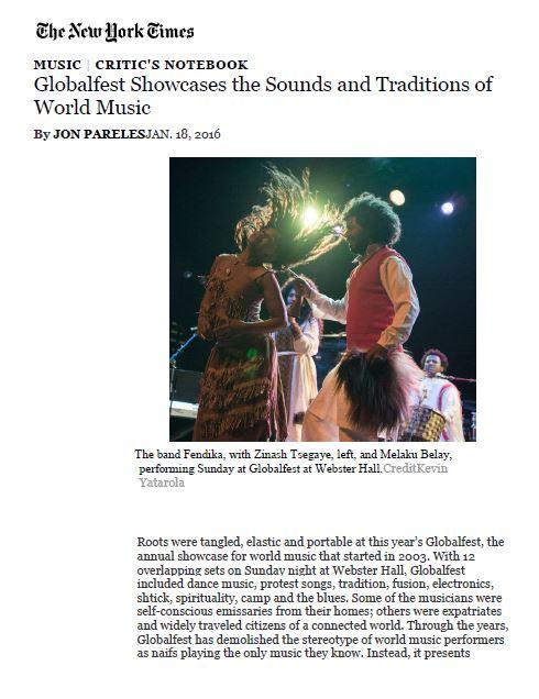 NYT - globalfest